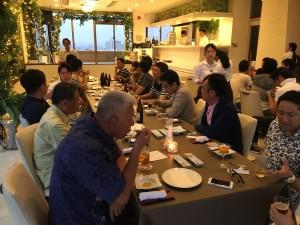 アップルパーク社員旅行_天久テラスで夕食